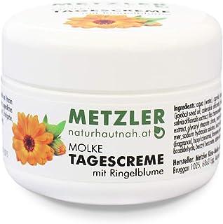 METZLER Molke Tagescreme - besonders nährstoffreiche Gesichtscreme mit Jojoba, Vitamin E und Extrakten der Ringelblume - UV-Filter schützt vor lichtbedingter Hautalterung, 50 g