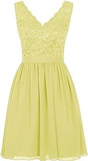TalinaDress Women Short V Neck Lace Chiffon Homecoming Cocktail Prom Dress E239LF