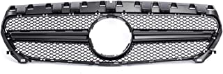KARPAL Front Black Hood Upper Grille Compatible With Mercedes Benz W117 2014-2018 CLA-Class AMG Style Matte