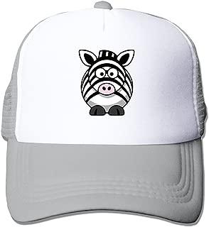 Cartonn Animal Baby Zebra Adjustable Hip Hop Mesh Hat
