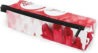 Trendy Valentine's Day Glasses Case Portable Soft Sunglasses Pen Bag Protective Purse