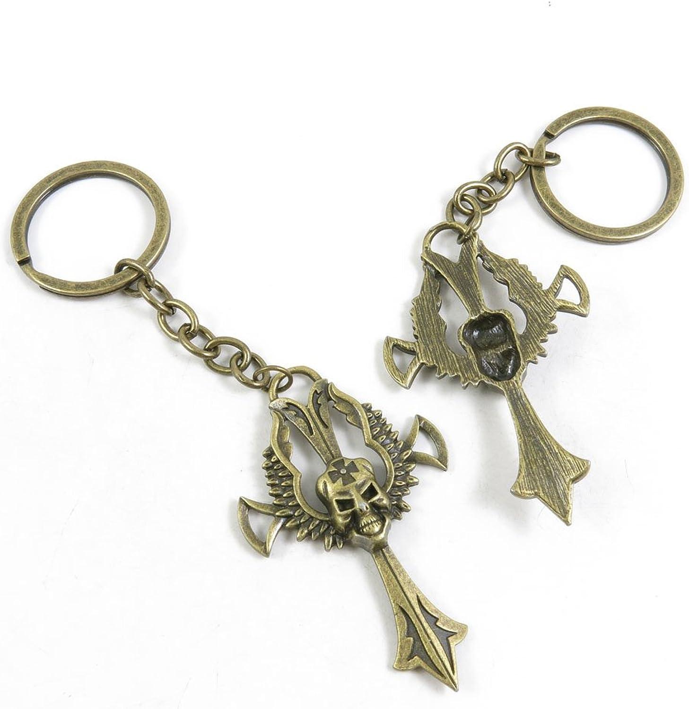 70 Pieces Fashion Jewelry Keyring Keychain Door Car Key Tag Ring Chain Supplier Supply Wholesale Bulk Lots K1QN4 Skull Cross