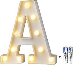 A LOVIVER Rote H/ölzerne Buchstaben Alphabet Holzbuchstaben Aufsteller Hochzeit Geburtstag Dekoration