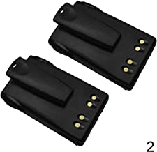 Mighty Max Battery JMNN4023 Replacement Battery with Clip for Motorola EX560 XLS - 2 Pack Brand Product