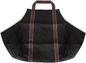 Porta-troncos para lenha de lona de tamanho grande Porta-sacos para lenha durável Lareira ao ar livre para piquenique de a...