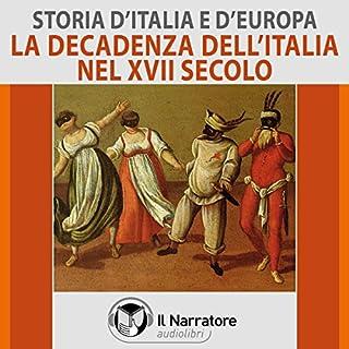 La decadenza dell'Italia nel XVII secolo copertina