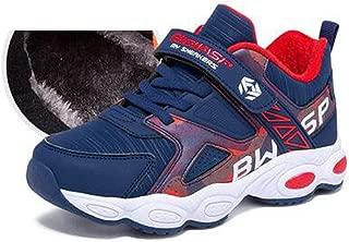 HK Sports Shoes, Boys Cotton Shoes, Winter Plus Velvet Thickening, Boys Two Cotton Warm Winter Shoes Children's Sports Shoes (Color : B, Size : 40EU)