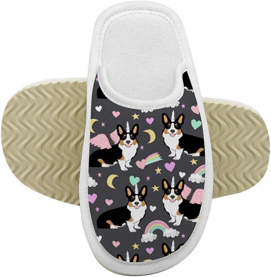 House Slippers Corgis Memory Foam Indoor Home Slippers Anti-Slip Shoes for Boys Girls