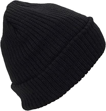 711212b8a38 Best Winter Hats Adult Solid Color Thick W Fleece Lined Cuffed Beanie (One  Size