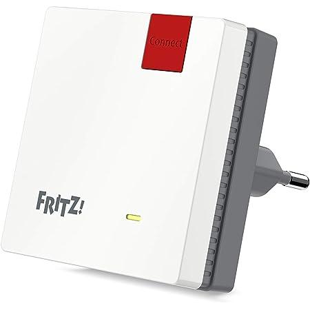 AVM FRITZ!WLAN Mesh Repeater 600 (WLAN N bis zu 600 MBit/s (2,4 GHz), WPS, kompakte Bauweise, deutschsprachige Version)