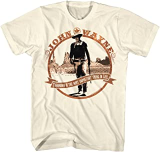 John Wayne Hollywood Icon Actor Tomorrow Legend Western Adult T-Shirt Tee
