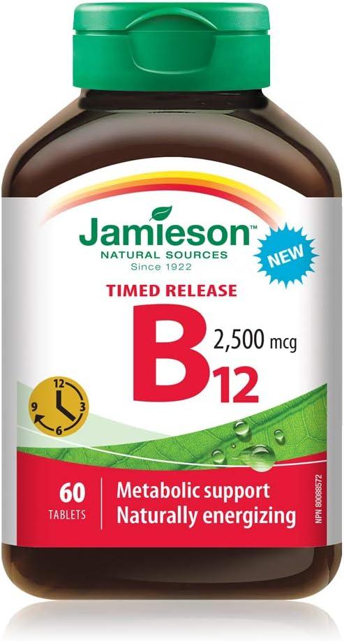 Jamieson Vitamin Fashionable B12 2 500 60 Tablets mcg Free Shipping Cheap Bargain Gift