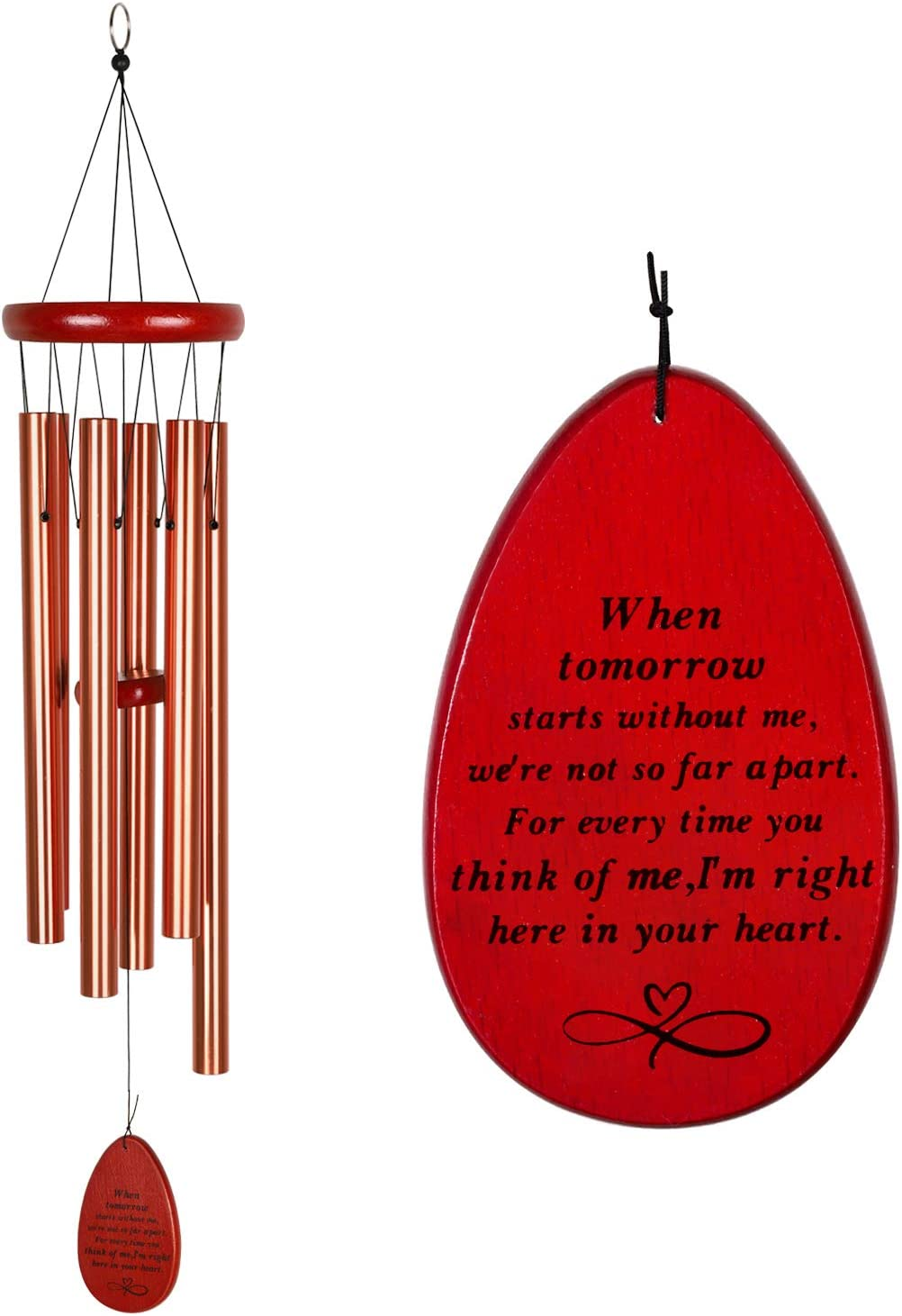Max 49% OFF IMEIM Max 52% OFF Memorial Gifts Wind Chimes Sympathy for Outside Chime