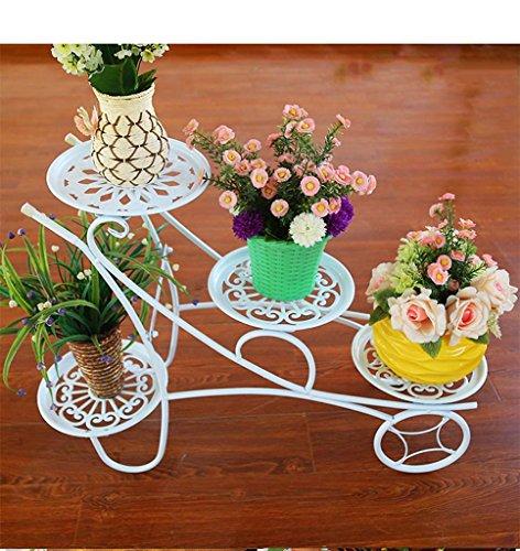 FZN Fer Balcon Fleur Stand Plancher Fleur Rack Intérieur Salon Plancher Pots de Fleurs (Couleur : Blanc)