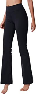 ChinFun Women's Performance High Waist Bootleg Yoga Pants Inner Hidden Pocket Tummy Control Bootcut Sweatpants Ankle Leggings