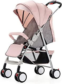 Compact Lightweight Baby Stroller, Pushchair Buggy, with Lying Position, One Hand Fold, 5-Point seat belt, with Cup Holder and Meal Plate, Suitable from Birth to 3 Years old