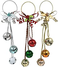 TOYMYTOY 3pcs Christmas Door Hangers Jingle Bell Wall Hangers Xmas Tree Hanging Decorations