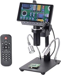 KKmoon デジタル顕微鏡カメラ 電子顕微鏡 1 HY-1070 5インチ 16MP 4K 1080P 60FPS USB & WI-FI 工業用 デジタル顕微鏡 50 倍 C-mountレンズ 顕微鏡 1 / 2.3イメージングセンサー usb マイクロスコープ