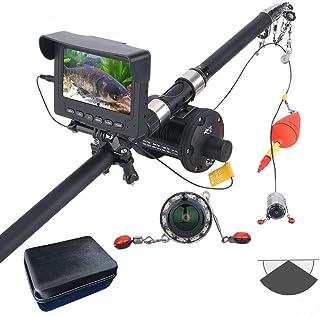 DMNSDD Buscador de Peces, Kit de cámara de Video de Pesca submarina portátil, 10PCS LED de visión Nocturna 175 Grados Cáma...