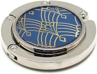 Borsetta in resina piuma art deco arabesco blu o metallo 4,5 cm regali personalizzati regalo di natale amici compleanno fe...