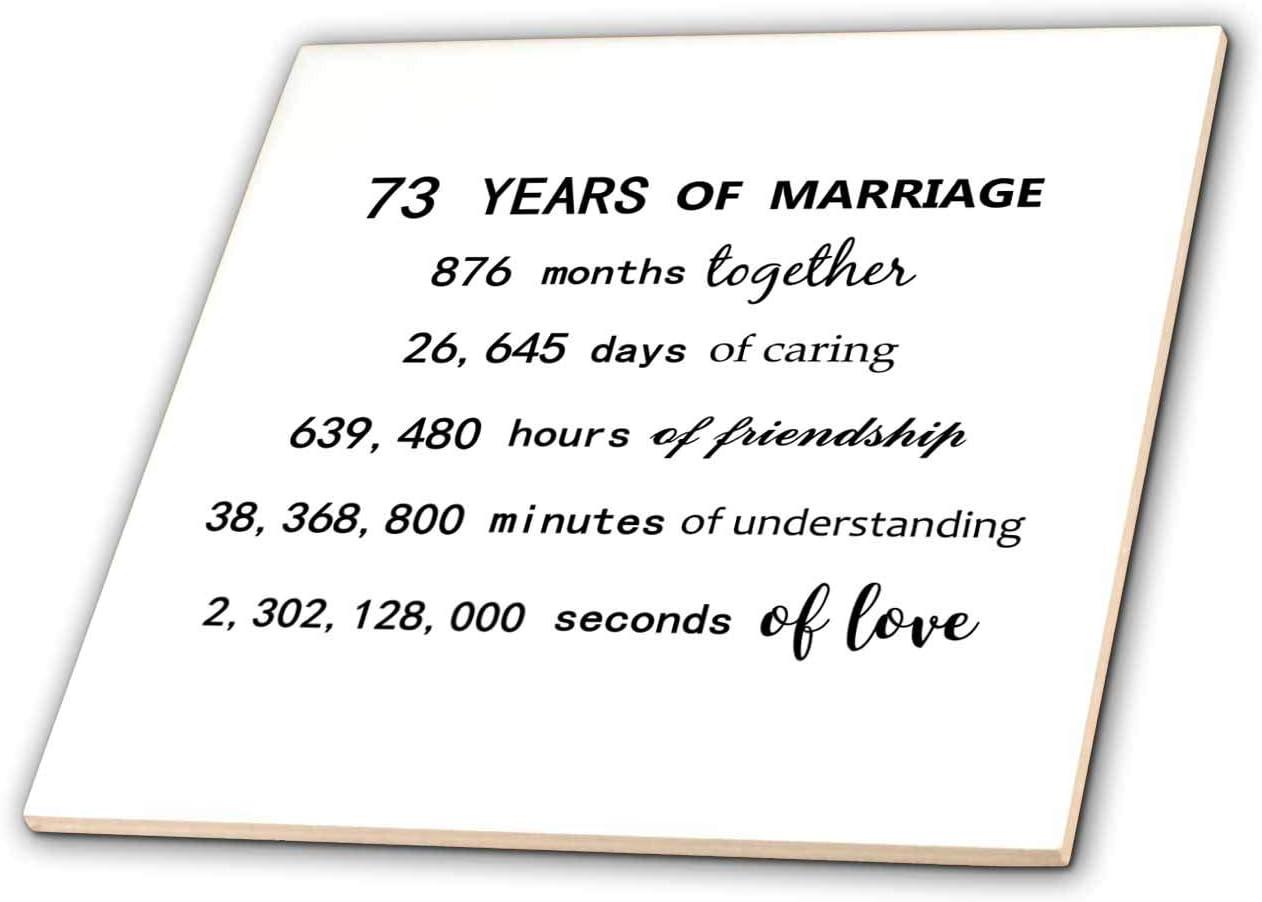 Washington Mall 3dRose InspirationzStore - Anniversaries Marriage Years 73 Popular of