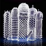 5pcs Silicone Pénǐs Extension Set Crystal Pênís Extêndêr Enlarger Exténsion Cōok Ríng Strétch Sleeve Gírth Best Gift Clear