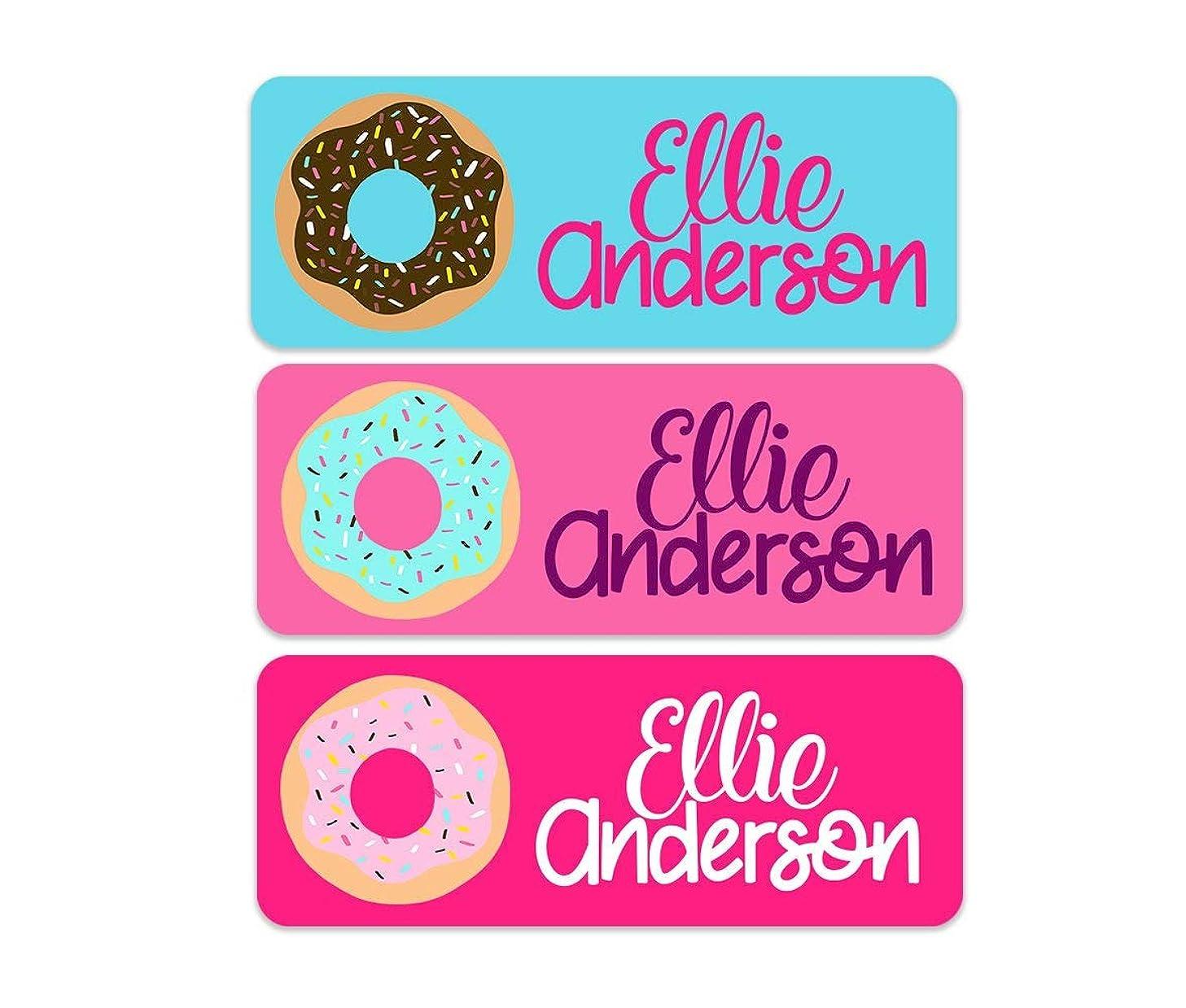 Waterproof Name Labels - Donut Name Labels - Girls Name Labels - Kids School Name Labels - Personalized Name Labels - 30 Labels