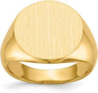 Genuine 14k Yellow Gold Signet Ring Size 7