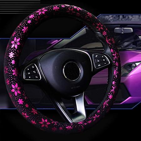 NBSMN Auto Lenkradbezug 38 Cm//15 Mode Kristall Diamant Jahreszeiten Steering Abdeckung Universal Pu-Leder Lenkradabdeckung F/ür M/ädchen-Frauen