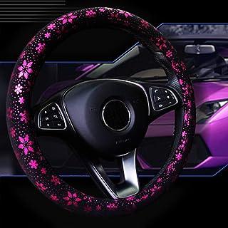 Lisaion Automotive 38 cm, hecha a mano Funda para volante de coche dise/ño de flores
