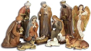 Spetebo Figurine de cr/èche de No/ël XXL Accessoires de cr/èche 10 pi/èces Figurine Peinte /à la Main