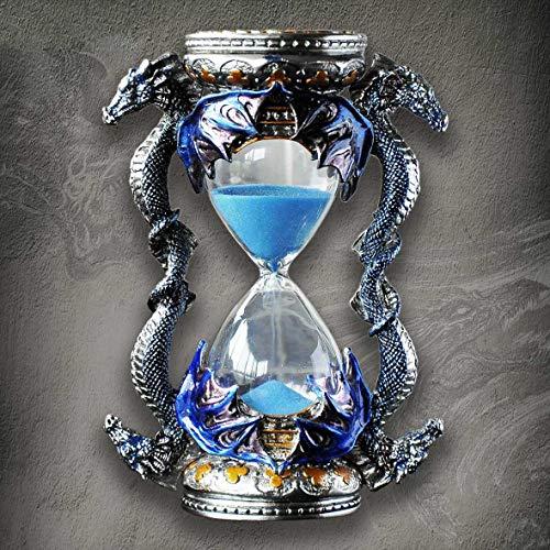 zhuao Metall Sanduhr Timer, Drachen-förmigen Kreativen Ornamente, Wohnaccessoires Geburtstagsgeschenk Blau