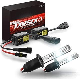 TXVSO Neueste Mini 12 V 55 W Xenon HID Conversion Kit Scheinwerfer für Auto Fahrzeug Ersatz Halogenlampe Set, H1 8000K Kristallblau