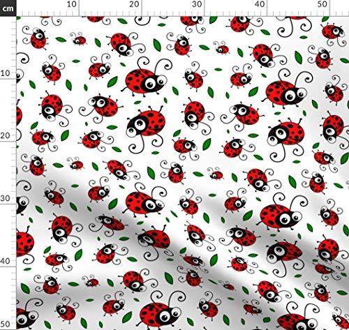 Niedlich, Marienkäfer, Comic Stoffe - Individuell Bedruckt von Spoonflower - Design von Inspirationz Gedruckt auf Bio Baumwollsatin