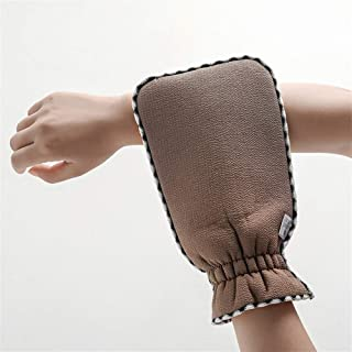 Adult Bathing Gloves Scrub Thickening Exfoliating Bath Gloves Protection (Color : Coffee)
