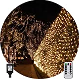 Net String Light Outdoor String Light Garden Tree Mesh Light Twinkle Light 9.8ft x 6.6ft 200LED...