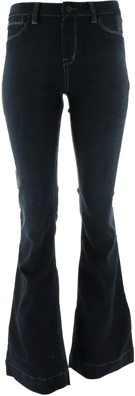 Laurie Felt Silky Denim Pull-On Flare Jeans