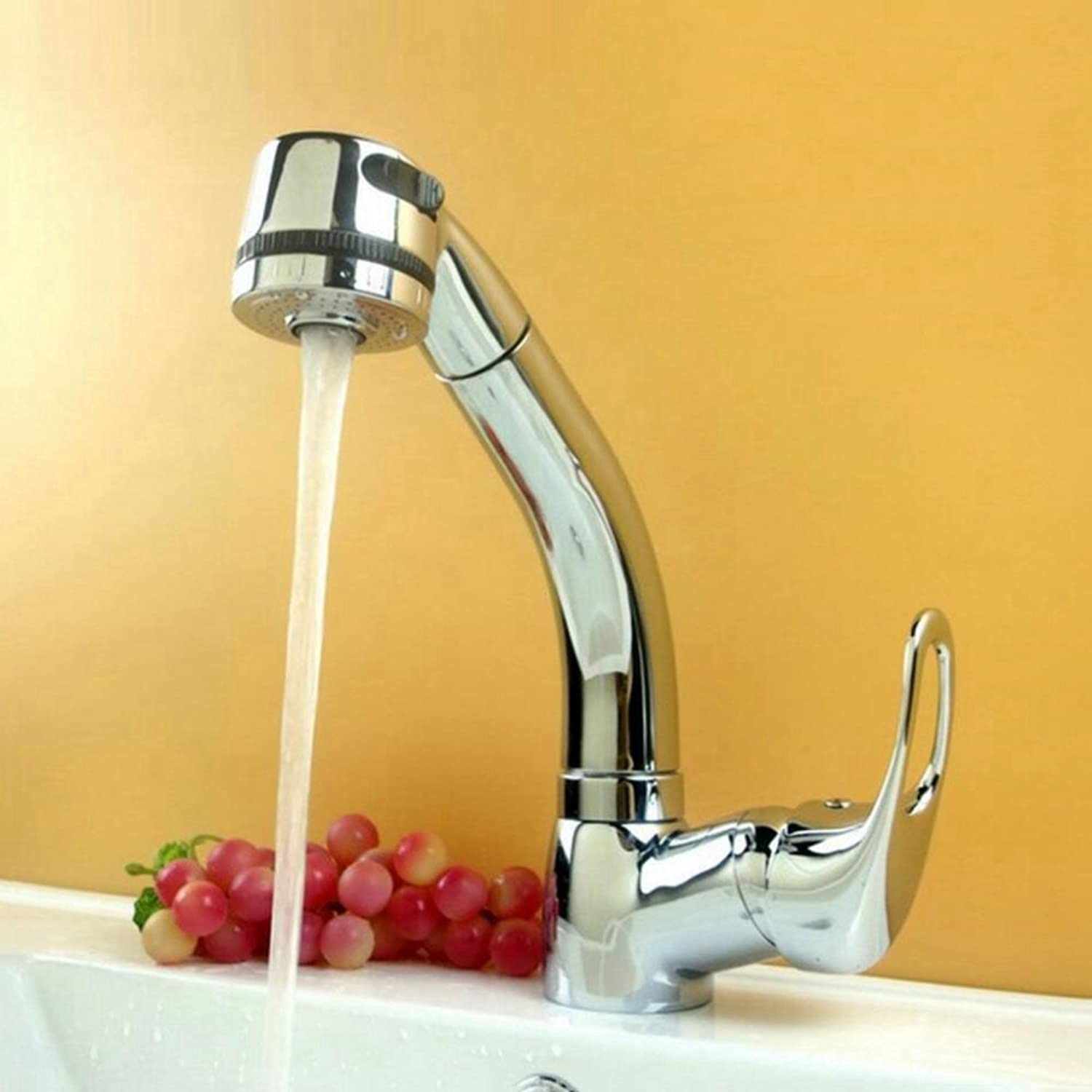 BiuTeFang Kitchen faucet pull can lift 360 ° redating hot and cold basin sink faucet