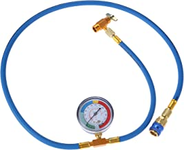 Aupoko R134A Refrigerant Recharging Hose Kit, AC Recharge Kit with 1/2'' Acme Male 1/4