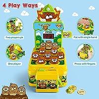 VATOS Acchiappa la Talpa,Mini-Giocattolo elettronico Arcade,Giocattolo Fornito di Monete e di 2 martelli Giocattolo,Gioco interattivo per i Bambini e Bambini di età Compresa tra 3-6 Anni #6