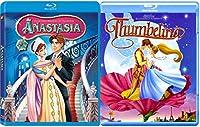 Thumbelina & Anastasia Blu Ray Animated Movie Set Ariel's Beginning & Return to the Sea