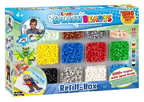 CRAZE- Cuentas de fusibles Fuse Beads Splash BEADYS Caja de Recarga Juego de Recambio de Perlas para niños 10006, Multicolor , color/modelo surtido