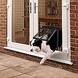 PETLESO ペットドア 網戸専用 犬猫出入り口 Lサイズ(中,大型犬用)