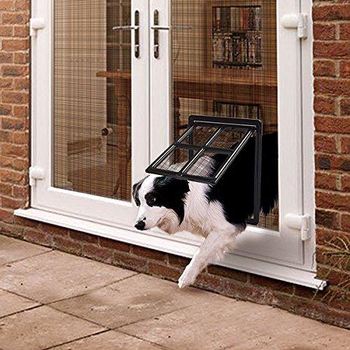 PETLESO Hundeklappen Haustierklappe Katzenklappe Magnet- Sperre für Hunde Mittel Groß Katzen 30 * 40 cm Hundetür