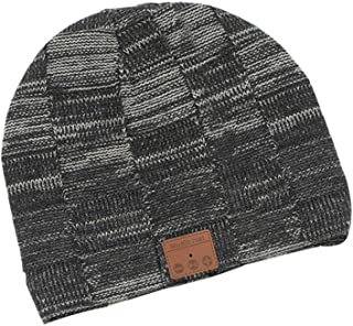 Joick Bluetooth 5.0 Beanie Headphone Hat Detachable Speaker Mic Women Men Winter Knitted Headset Cap