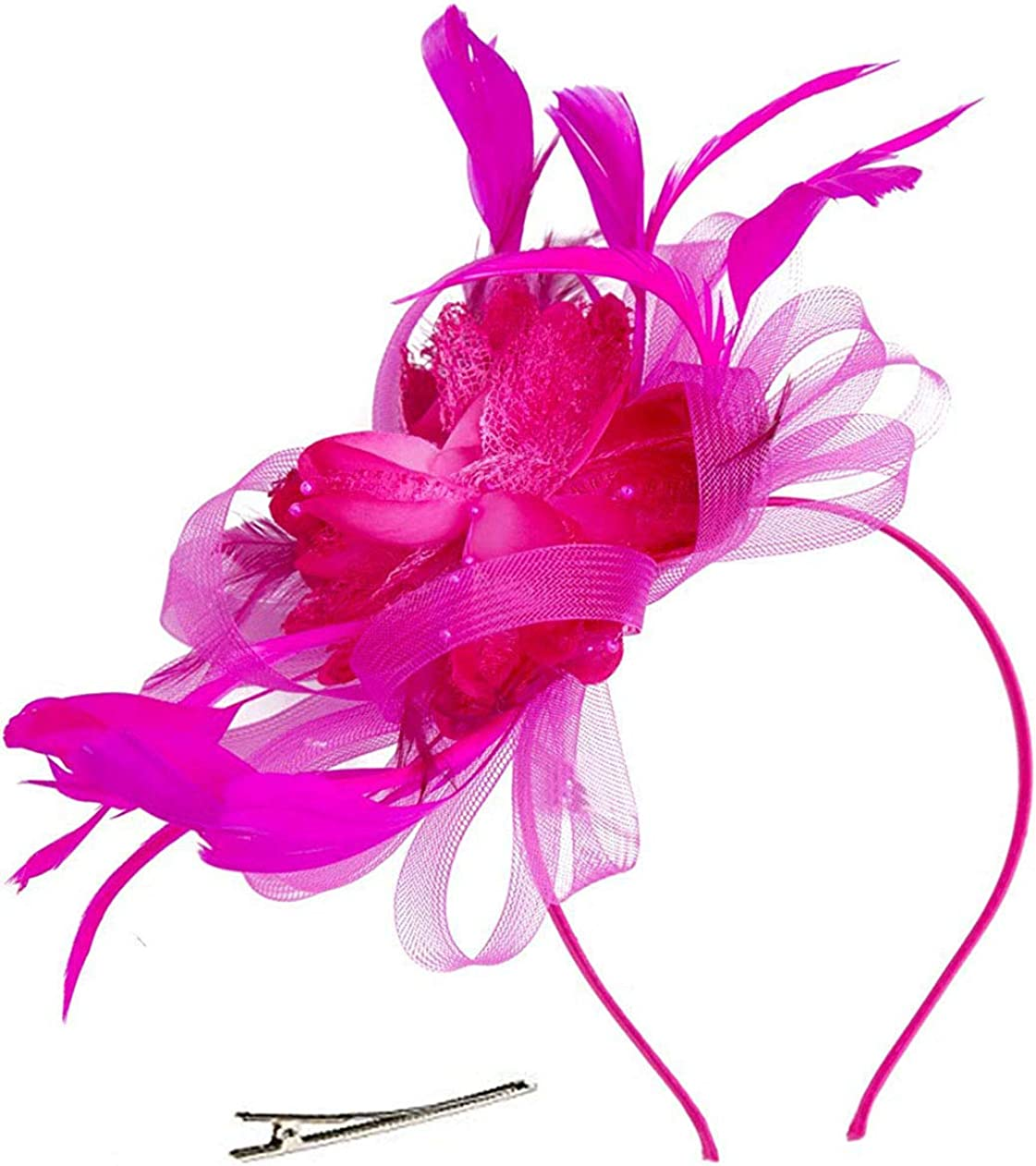 Orcle Fascinators 20s 50s Hats for Womens Cocktail Party Hat Tea Party Wedding Headpiece