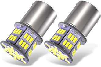 YITAMOTOR 2x 1156 LED Bulb White, 1003 BA15S 1141 7506 LED Replacement Light Bulbs for RV Car Camper Trailer Interior Indoor Lights, Super Bright 6000K, 3014 54-SMD 12V-24V
