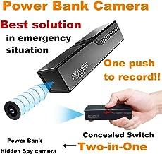 Ocamo Mini HD 1080P Spy Hidden Camera Power Bank Motion Detection Recorder 5000mAh Cargador de Dispositivo Negro