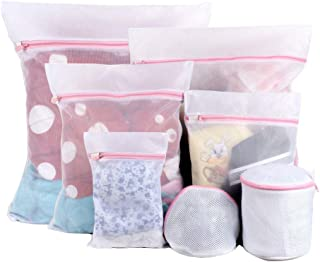 Sanlin 7Pcs Mesh Laundry Bags for Delicates with Premium Quality,Clothing Washing Bags for Laundry Socks,Blouse,Bra,Hosiery and Underwear, Lingerie
