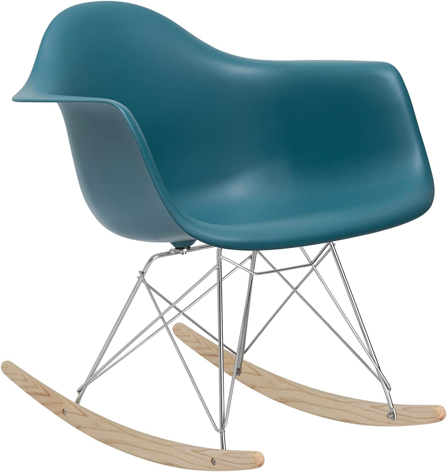 Poly and Bark Rocker Lounge Chair, Teal